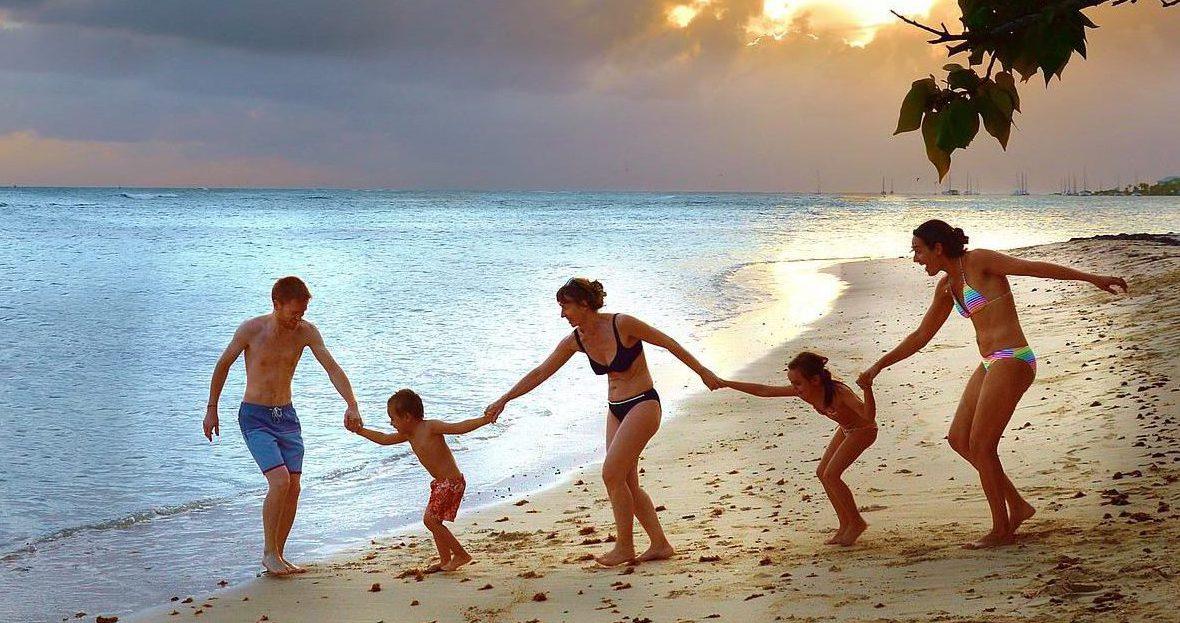 vakantie met het samengesteld gezin